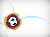 Vector clipart: background with soccer ball