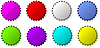 Vector clipart: Color bottle caps