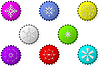 Vector clipart: Bottle caps with snowflakes