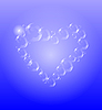 Vector clipart: Transparent heart with bubbles