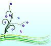 Vector clipart: Flower card