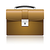 Vector clipart: Leather briefcase