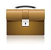 Векторный клипарт: Кожаный портфель