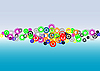 Vector clipart: Colorful circles background