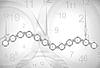 Vector clipart: Clocks background