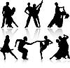 Vector clipart: Dance set