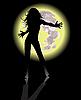 Vector clipart: Dancing moon