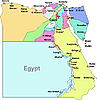 Vector clipart: Egypt map