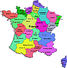 Vector clipart: France map