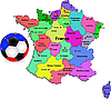 Vector clipart: France football map