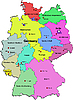 Vector clipart: Germany map with lands