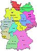 Векторный клипарт: карта Германии с землями