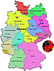 Vector clipart: Germany map with soccer ball