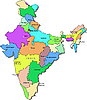 Vector clipart: India map