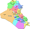 Векторный клипарт: Карта Ирака