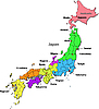 Vector clipart: Japan map