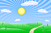 Sunrise landscape | Stock Vector Graphics