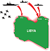 Vector clipart: Libya war