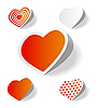 Vector clipart: Hearts stickers