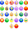 Vector clipart: New year balls as numbers