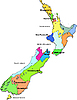 Vector clipart: New Zeland map