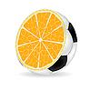 Vector clipart: Orange ball