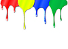 Vector clipart: Drops of color paint