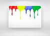 Vector clipart: Billboard with paint splash