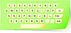Vector clipart: Paper keyboard