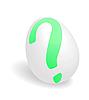 Vector clipart: Question egg