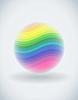 Vector clipart: Rainbow ball