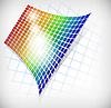 Vector clipart: rainbow grid