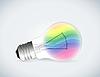 Regenbogen Glühbirne