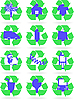 Vector clipart: Recycle signs