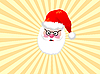 Vector clipart: Santa Claus in yellow rays