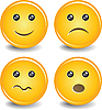 Vector clipart: Smileys