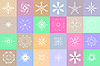 Vector clipart: Snowflakes colorful background