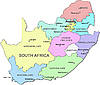 Vector clipart: South Africa map