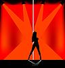 Векторный клипарт: стриптиз