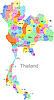 Vector clipart: Thailand map