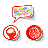 Vector clipart: General thought - sticker