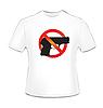 Векторный клипарт: Футболка с пистолетом