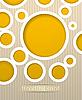 Vector clipart: Circles postcard