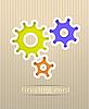 Векторный клипарт: Gears открытку