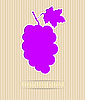 Векторный клипарт: Виноградный открытку