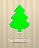 Vector clipart: Merry Christmas card with stylized fir tree