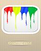 Vector clipart: Paint drips postcard