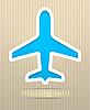 Векторный клипарт: Самолет открытку