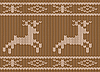 Vector clipart: Knitted pattern with deers