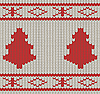 Vector clipart: Knitted pattern with fir-trees